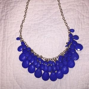 Blue and Gold Dangly Necklace